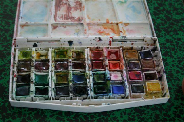 Vous regardez une image de l'article: Palettes et pinceaux en photos